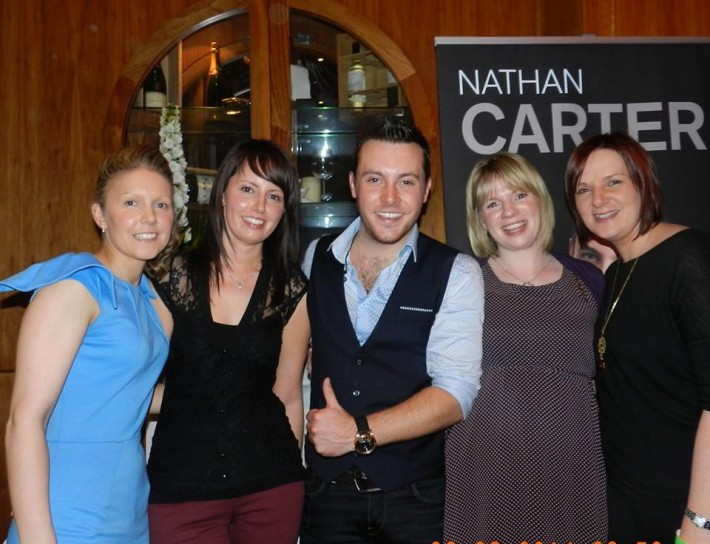 Nathan Carter with the CLDP girls